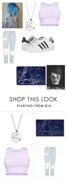 """""""Pisces"""" by coolkidsneversleep ❤ liked on Polyvore featuring Chupi, River Island and adidas"""