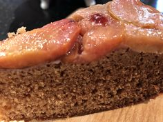 175g vegetable oil, 175g caster sugar, 1 tablespoon golden syrup, 2 eggs, 50ml milk, 300g sr flour, 1tsp bicarb, 1tsp mixed spice, 1 tsp ground ginger, plums halved and stoned, Demerara sugar in base of tin and place plums face down, mix dry ingredients, add wet ingredients, bake 175 deg for 45-55 mins