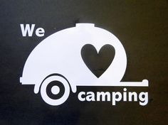 Vinyl Decal RV Teardrop Glamper Camper LOVE Vinyl Decal RV - Custom vinyl decals for caravans