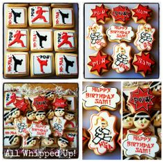 Tae-kwon-do/Karate decorated cookies from All Whipped Up!