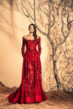Stunning Evening Dresses By Ziad Nakad Fall/Winter ,couture embroidered red gown. Beautiful Gowns, Beautiful Outfits, Evening Dresses, Prom Dresses, Red Gowns, Vestidos Vintage, Fuchsia, Moda Fashion, Mode Inspiration