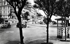 "Old Monaco photographs of the Avenue d'Ostende... Also known by Formula One fans as ""Virage de sainte devote""..."