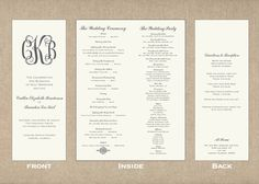free printable wedding programs templates | ... templates many ...