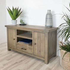 Handcrafted Reclaimed Wood TV Cabinet made using solid wood. This large Solid Wooden Living Room Plasma Cabinet comes with free UK Delivery! Reclaimed Wood Tv Stand, Reclaimed Wood Furniture, Living Room Storage, Table Storage, Blanket Box, Cabinet Making, Tv Cabinets, Free Uk, Open Shelving