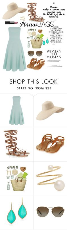 """Be You"" by pgaliano ❤ liked on Polyvore featuring Folio, Eric Javits, Lipsy, Topshop, ACME Party Box Company, Sophie Bille Brahe, Tiffany & Co., NARS Cosmetics and strawbags"