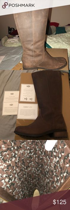 Ugg Tall Boots Bought last Christmas for my daughter, wore maybe 3 times.  Too big around my daughter calfs, paid 200$. Asking 125$. Serious inquires only, thanks! UGG Shoes Winter & Rain Boots