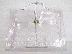 Authentic Hermes Limited Edition Naked 1997 Plastic Kelly Bag