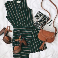 swooning for the @justoneanswer Marlia striped satin dress (shop link in bio) #lovelulus