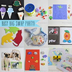 "A ""Busy Bag"" Swap Party (with tons of great links to toddler busy bag ideas!)"