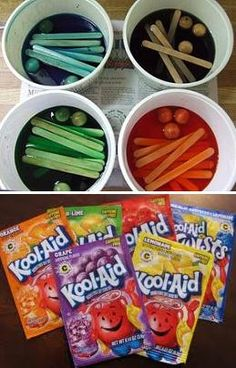 Use unsweetened Kool-Aid powder, water and a little vinegar to safely dye toy…