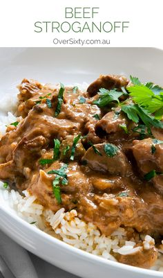 Beef Stroganoff Recipe - this classic beef stew is the perfect dinner for a winter's night when you want some hearty comfort food.