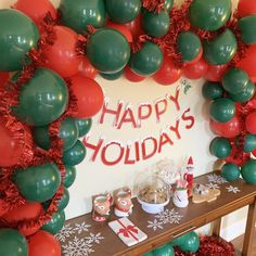 Erin C's Christmas/Holiday / Christmas - Photo Gallery at Catch My Party Christmas Balloons, Christmas Backdrops, Christmas Photos, Christmas Holidays, Lego Friends Birthday, Unicorn Birthday Parties, 2nd Birthday, Sweet 16 Parties, Holiday Parties