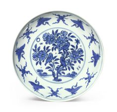 "robert-hadley:  "" A blue and white dish Jiajing mark, dated 1561.  Source: Sotheby's.com  """