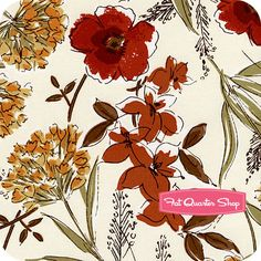 Honeycrisp Cream Honeycrisp Floral Yardage SKU# STELLA-198-CREAM