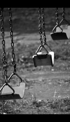 Oh, the hours, I spent on swings...twirling in them on my stomach, seeing how high I could pump myself and bailing out to see how far I could jump. I do remember turning the swingset over one time and it was rather scary!