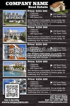 real estate listing flyers