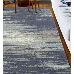 Heilman Blue Area Rug is part of Home Accessories Blue Living Rooms Ready to stand up to high foot traffic in the entryway and take on occasional spills under the kitchen table, polypropylene rugs a - Grommet Curtains, Panel Curtains, Blackout Panels, Condo Living, Living Rooms, Polypropylene Rugs, Colorful Curtains, Power Loom, Grey Rugs