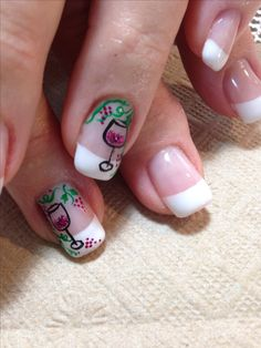 Wine nail art.