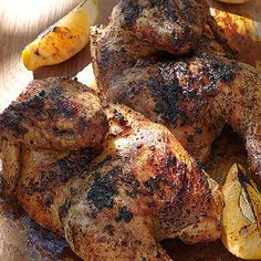 Braaied lemon and herb chicken Braai Recipes, Meat Recipes, Gourmet Recipes, Cooking Recipes, Healthy Recipes, Yummy Recipes, Herb Chicken Recipes, Lemon Herb Chicken, Fruit Calories