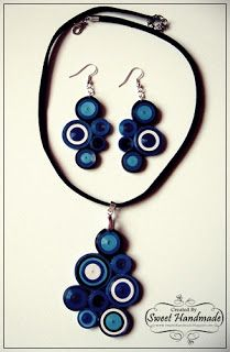 • Sweet Handmade •: BlueJeans set: Earrings and Necklace
