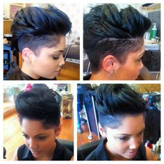 Cool cut styled in a quiff