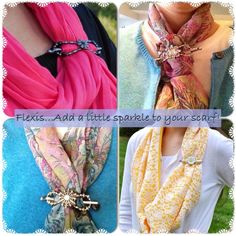 Who likes to wear scarves? I love wearing flexi clips on my scarves! They add just a little extra sparkle. http://lillarose.biz/rrobinson