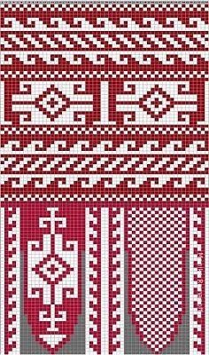 View album on Yandex. Knitting Charts, Knitting Patterns, Crochet Patterns, Knit Mittens, Knitting Socks, Cross Stitch Borders, Cross Stitch Patterns, Tapestry Crochet, Filet Crochet