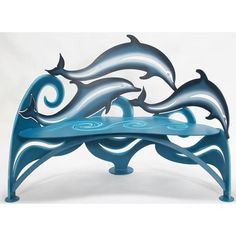 Dolphin Bench by Cricket Forge