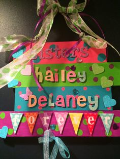 Personalized wall sign sisters sign sisters forever by Bedotted