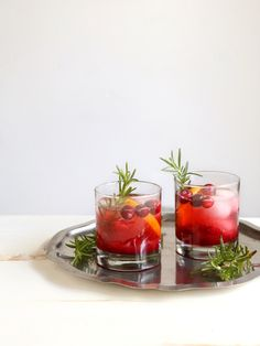 Cranberry Gin Fizz Cocktail, perfect for the holidays!   completelydelicious.com