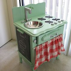 Color scheme Upcycled bedside dresser - repurposed dressing table. @Tracey Fox Murphy