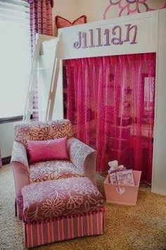 Kids Photos Bunk Beds Design, Pictures, Remodel, Decor and Ideas - page 22 Teenage Girl Bedrooms, Little Girl Rooms, Girls Bedroom, Bedroom Decor, Bedroom Ideas, Comfy Bedroom, Bedroom Makeovers, Bedroom Apartment, Apartment Ideas