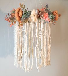 Nursery Mobile Dreamcatcher Mobile Flower Mobile Boho chic