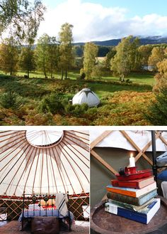 Canvas Yurt Guest House at Inshriach House — Cairngorms National Park, Scotland