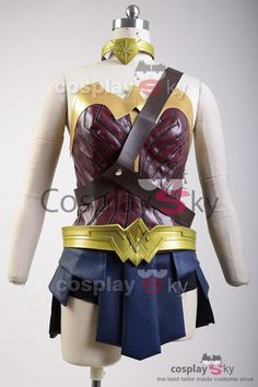 Deluxe Justice League Wonder Woman Cosplay Costume -9