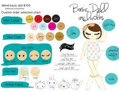 Custom Order Cloth Doll by Mend by Ruby Grace by MendbyRubyGrace
