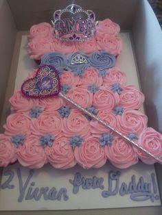 Number 3 Princess cupcake cake SARITAS SWEETS Pinterest