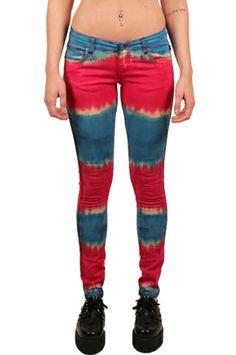 Tripp NYC Light Show Pants Tie Dyed Print - TrashandVaudeville.com