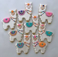 Birthday Unicorn llama Biscuit Mold Stainless Steel Cookie Cutters Cactus Alpaca Llama Animal B Iced Cookies, Cute Cookies, Royal Icing Cookies, Decorated Sugar Cookies, Owl Cookies, Baby Cookies, Flower Cookies, Heart Cookies, Easter Cookies
