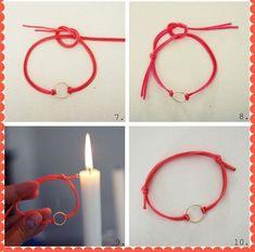 Diy-Armband-Tutorial zu We Heart It Jewelry Knots, Bracelet Knots, Bracelet Crafts, Bracelet Making, Jewelry Crafts, Beaded Jewelry, Jewelry Making, Beaded Bracelets, Armband Tutorial