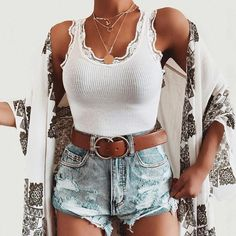cute & trendy summer 2019 outfit ideas 68 Source by jacklynneg ideas pantalon Cute Casual Outfits, Girly Outfits, Skirt Outfits, Converse Outfits, Tank Top Outfits, Look Fashion, Fashion Outfits, Fashion Hair, Jeans Fashion