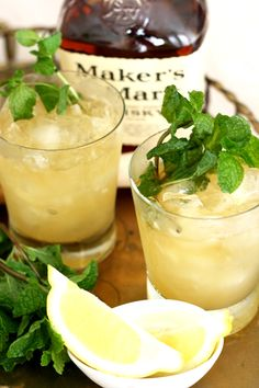 cocktail: whiskey smash (could be a good twist on a st. patrick's day cocktail!)