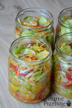 Salad Recipes, Cake Recipes, Preserves, Pickles, Cucumber, Mason Jars, Food And Drink, Cooking Recipes, Homemade