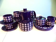 Vintage Melitta Coffee Set Coffee Pot Cups and by ByElleBee