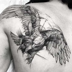 Sketch style eagle tattoo by Fredao Oliveira