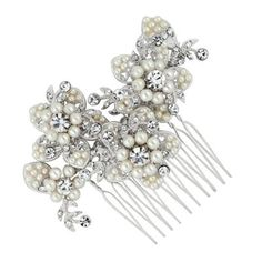 Butterfly by Matthew Williamson Designer pearl and crystal flower hair comb- at Debenhams Mobile Wedding Up Do, Wedding Hair Pieces, Wedding Ideas, Wedding Things, Wedding Stuff, Wedding Planning, Dream Wedding, Wedding Inspiration, Flower Hair Accessories