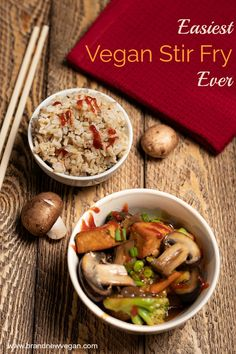 We're busy and sometimes just don't have a lot of time to cook. Which is why I made the Easiest Vegan Stir Fry Ever. The secret's in the sauce. Best Picture For tofu recipes For Your Taste Tofu Recipes, Entree Recipes, Asian Recipes, Whole Food Recipes, Cooking Recipes, Healthy Recipes, Lunch Recipes, Dinner Recipes, Vegan Stir Fry