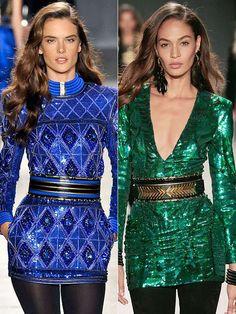 Alessandra Ambrosio & Joan Smalls | via DRESSLI #HM #Balmain