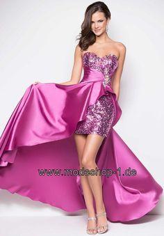 Pinar Vokuhila Kleid in Lila Flieder Violett von www.modeshop-1.de
