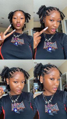 Short Locs Hairstyles, Black Girl Braided Hairstyles, Black Girl Braids, Baddie Hairstyles, Girls Braids, Girl Hairstyles, Curly Hair Styles, Natural Hair Styles, Dyed Natural Hair